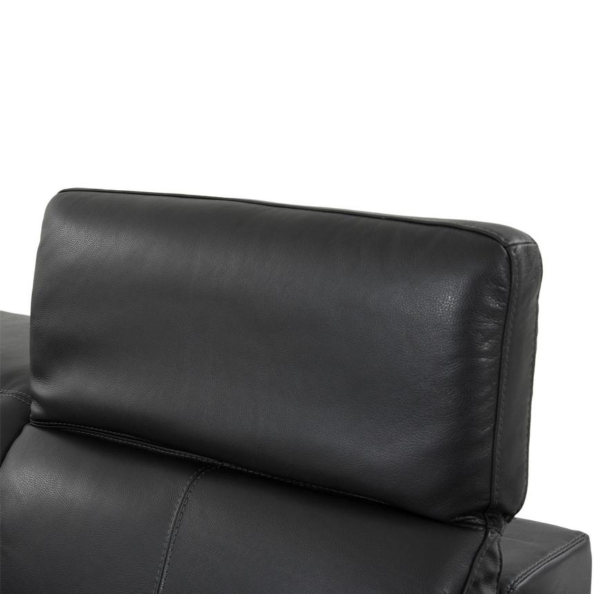 Toronto Dark Gray Leather Power Reclining Sofa w/Left Chaise  alternate image, 5 of 10 images.