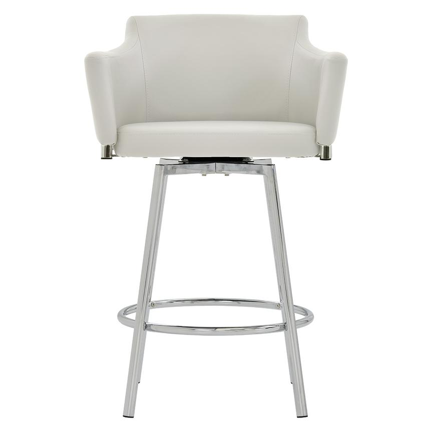 Dusty White Swivel Counter Stool  main image, 1 of 6 images.