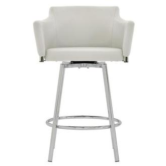 Dusty White Swivel Counter Stool