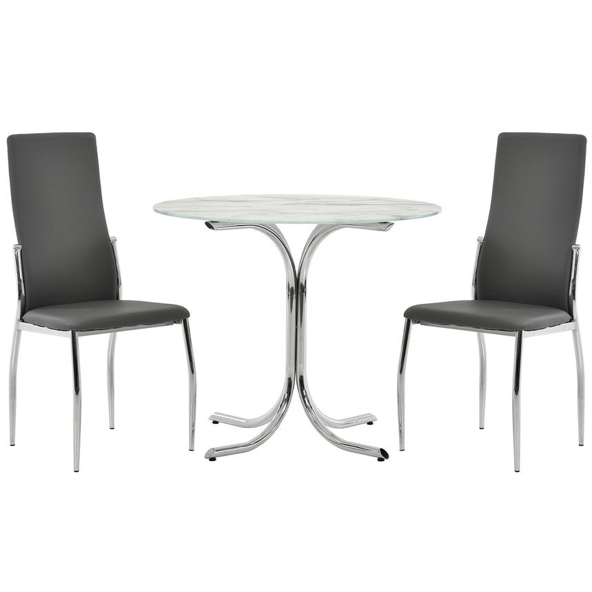 Dorothy/Luna Gray 3-Piece Casual Dining Set  main image, 1 of 11 images.