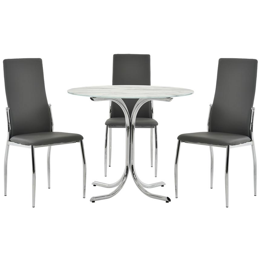 Dorothy/Luna Gray 4-Piece Casual Dining Set  main image, 1 of 11 images.