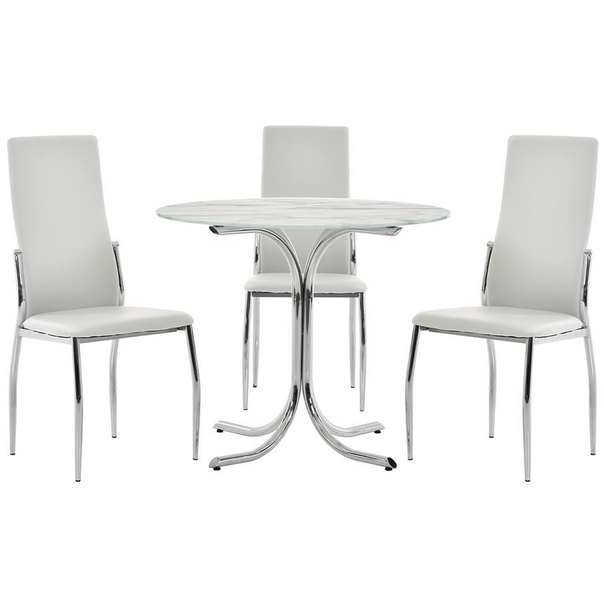 Dorothy/Luna White 4-Piece Casual Dining Set  main image, 1 of 11 images.