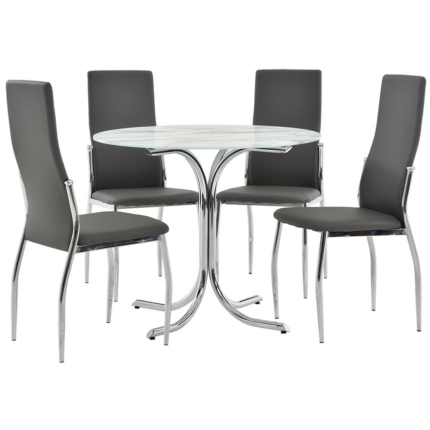 Dorothy/Luna Gray 5-Piece Casual Dining Set  main image, 1 of 11 images.