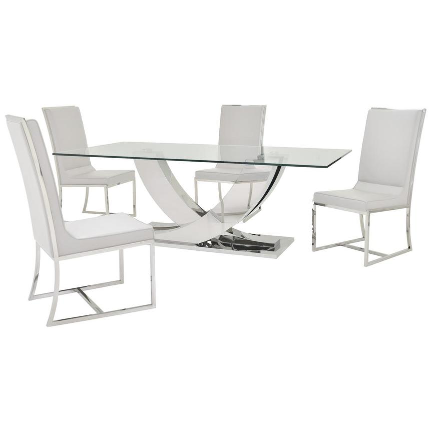 Sofitel White 5-Piece Formal Dining Set  main image, 1 of 12 images.