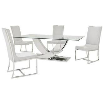 Sofitel White 5-Piece Dining Set