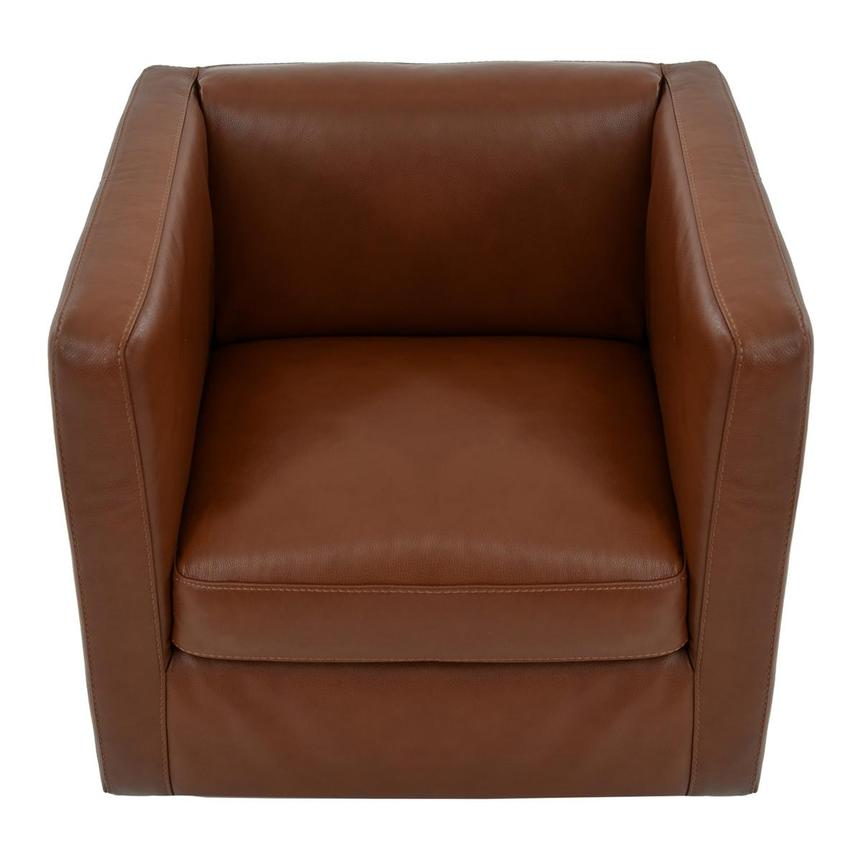 Cute Brown Leather Swivel Chair  alternate image, 7 of 8 images.