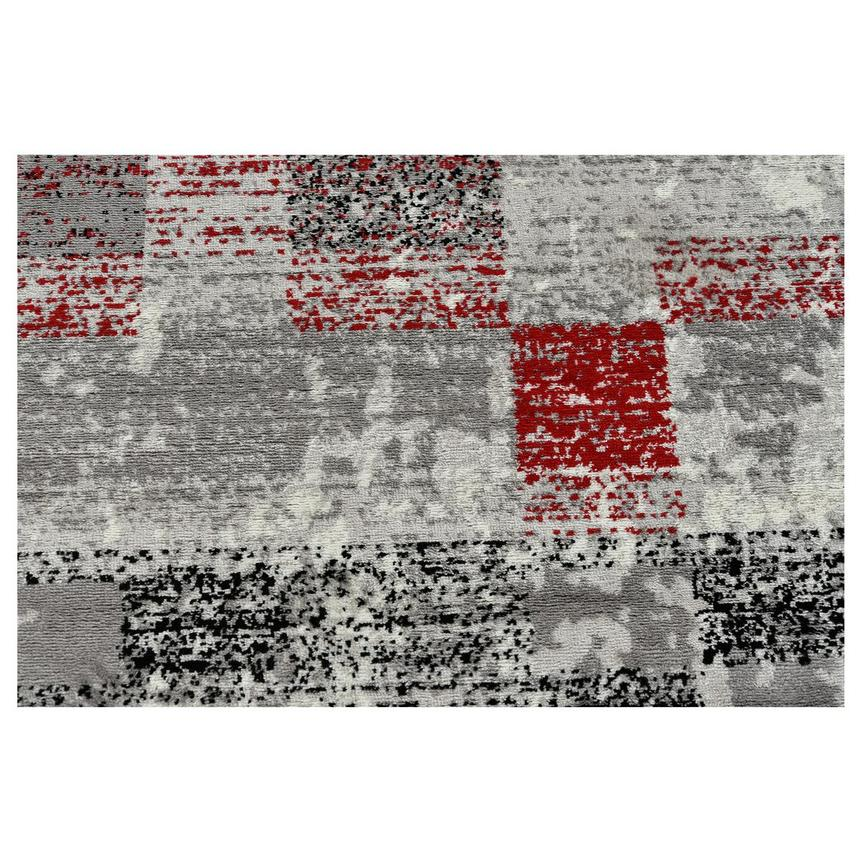 Merit Red 5' x 8' Area Rug  alternate image, 2 of 3 images.