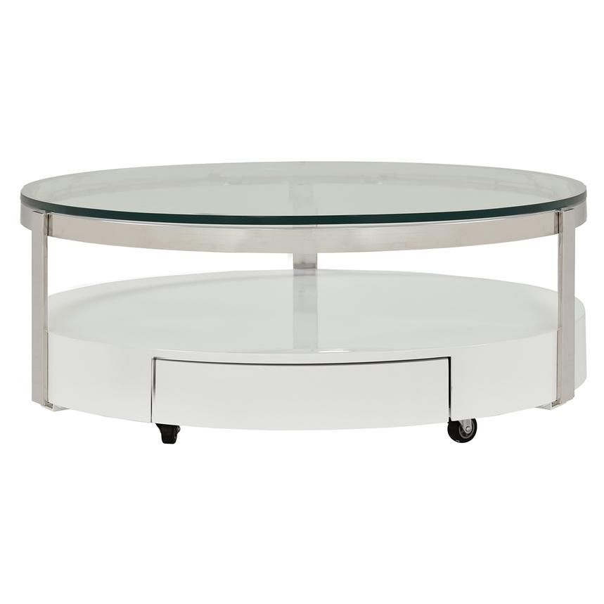 Cali Round Coffee Table w/Casters  main image, 1 of 5 images.