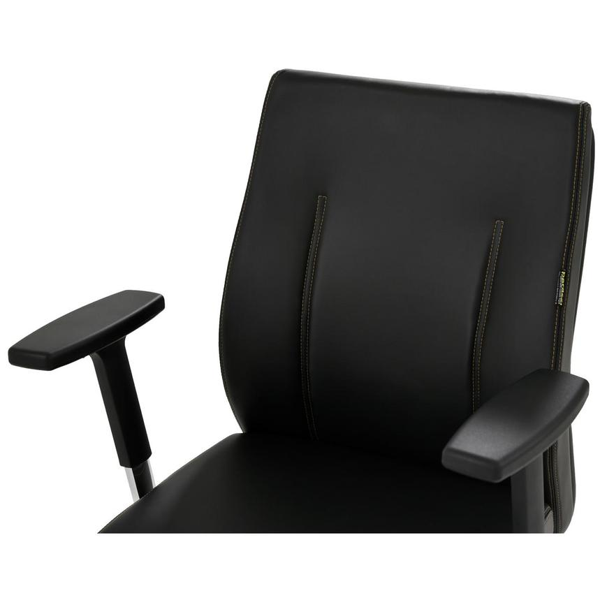 Regulo Black Low Back Desk Chair  alternate image, 6 of 8 images.