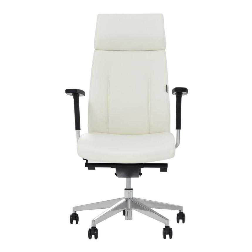 Regulo White High Back Desk Chair  main image, 1 of 7 images.
