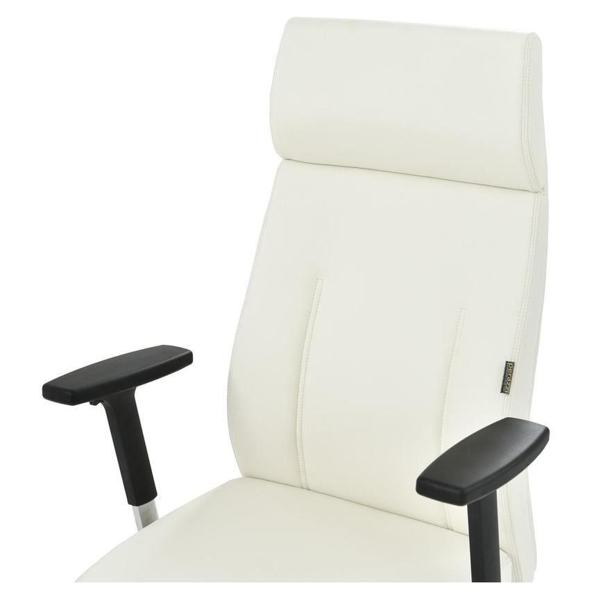 Regulo White High Back Desk Chair  alternate image, 5 of 7 images.