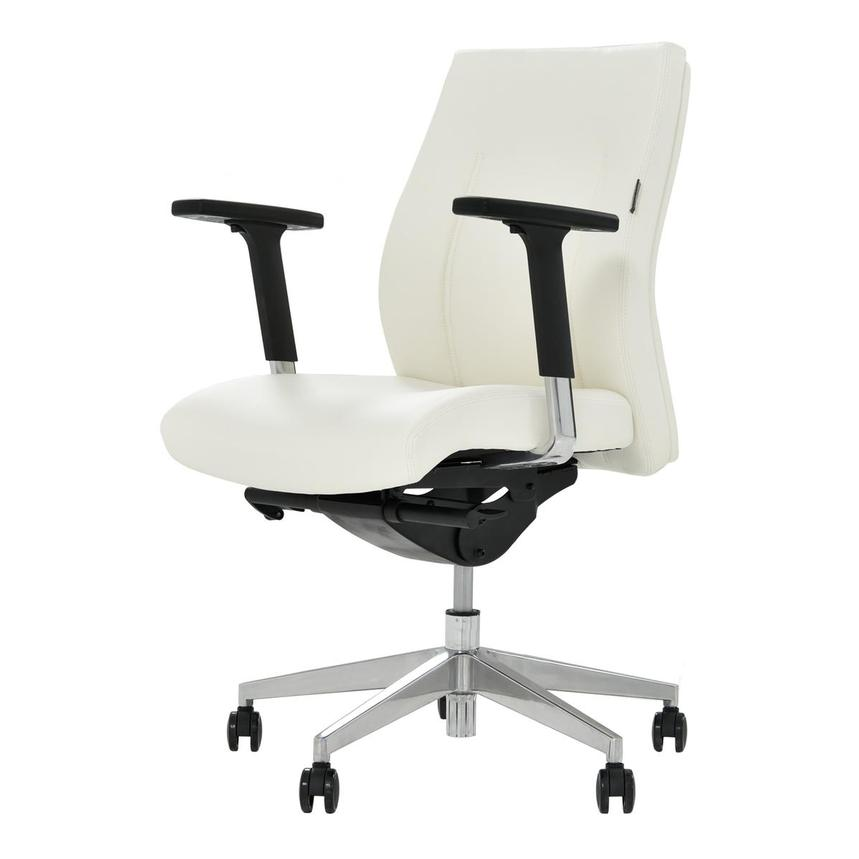 Regulo White Low Back Desk Chair  alternate image, 2 of 7 images.