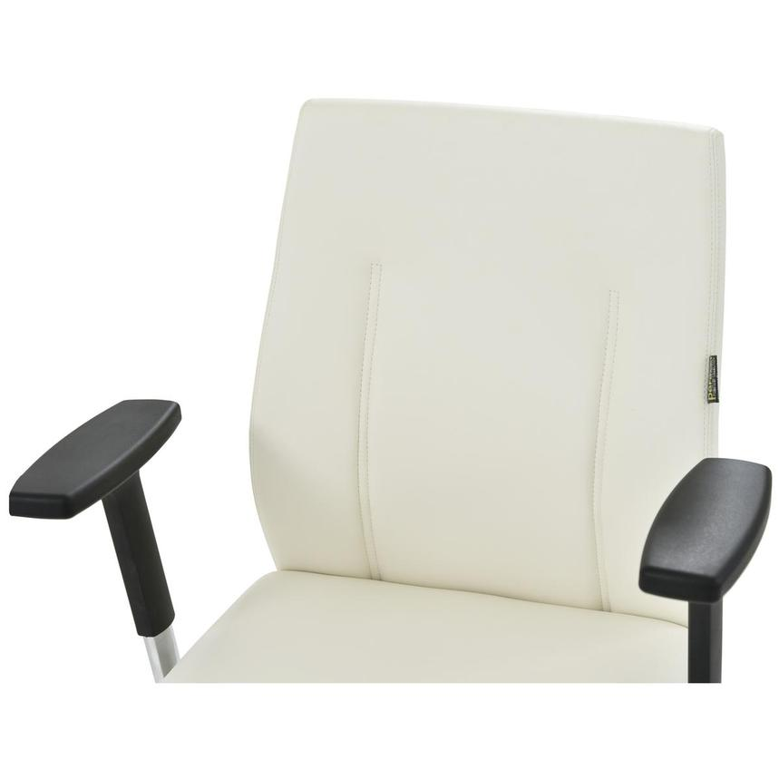 Regulo White Low Back Desk Chair  alternate image, 5 of 7 images.