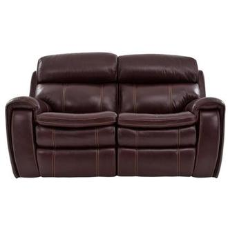 Napa Burgundy Leather Power Reclining Loveseat