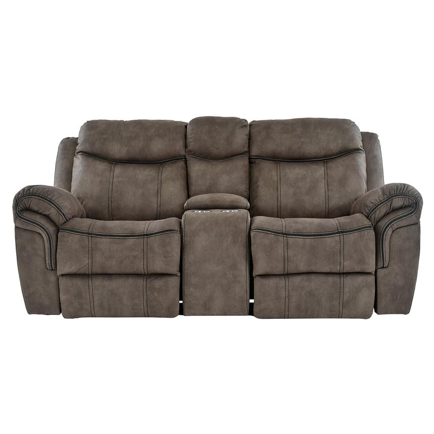 Knoxville Power Motion Sofa w/Console  main image, 1 of 7 images.