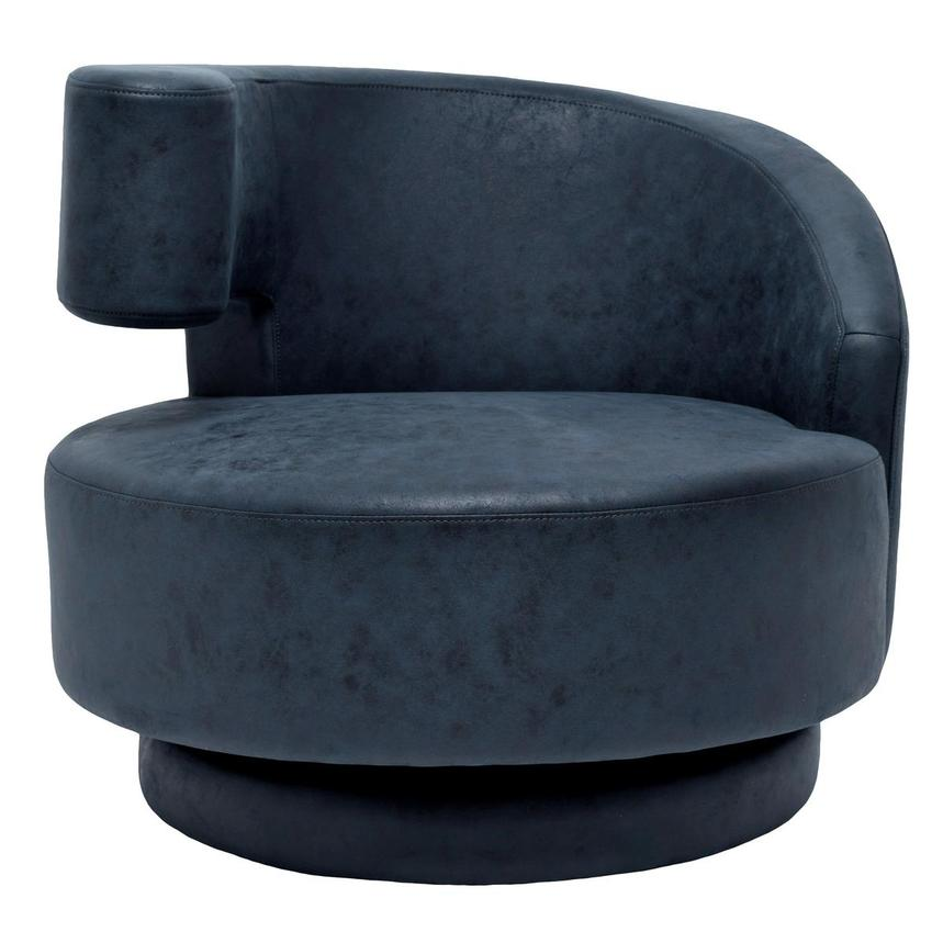 Okru Dark Blue Swivel Chair  main image, 1 of 6 images.