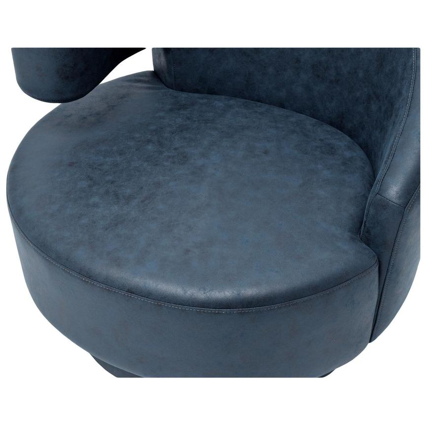 Okru Dark Blue Swivel Chair  alternate image, 6 of 6 images.