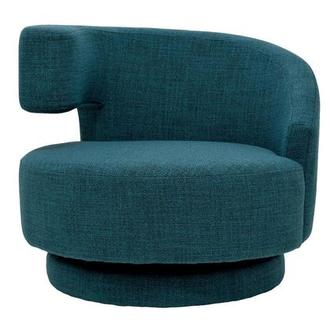 Okru Blue Swivel Chair