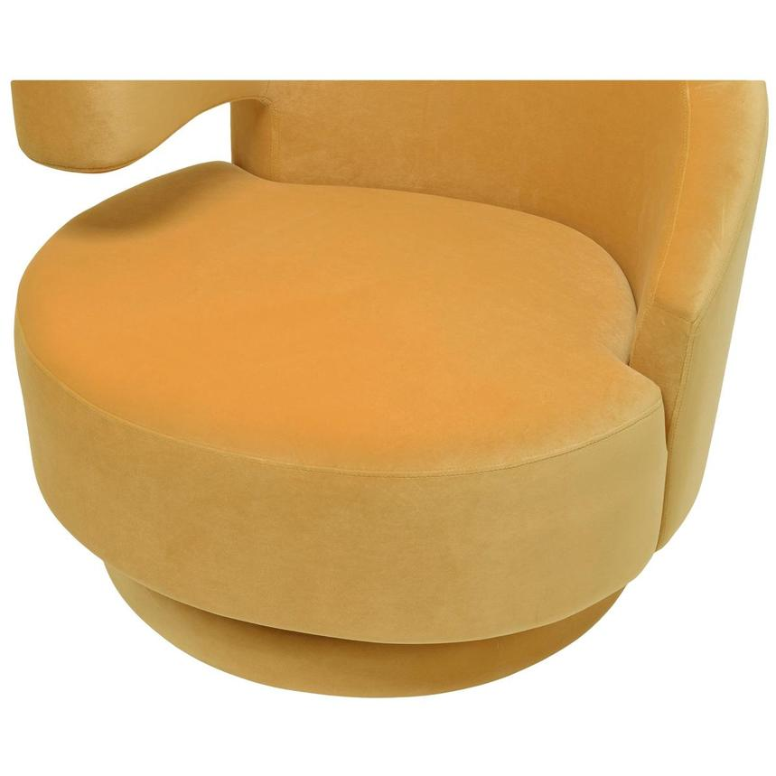 Okru Yellow Swivel Chair  alternate image, 6 of 6 images.