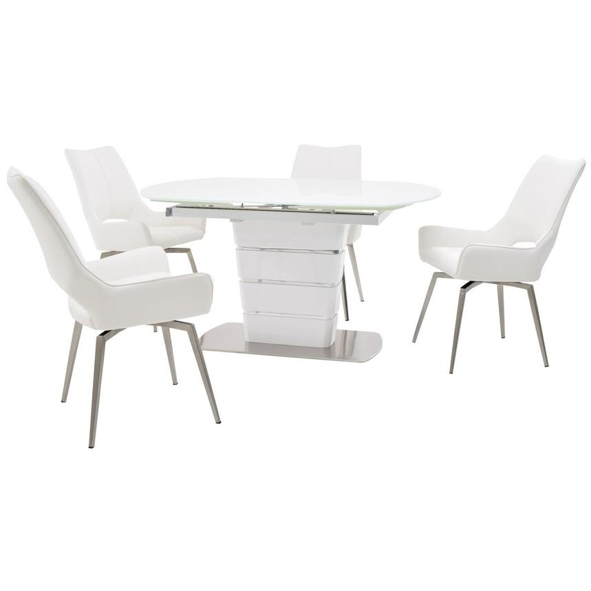 Santal/Kalia White 5-Piece Formal Dining Set  main image, 1 of 14 images.