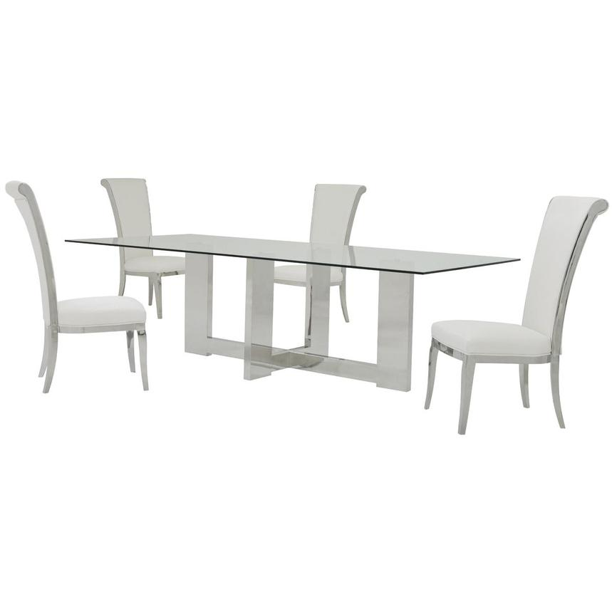 Opus/Joy White 5-Piece Formal Dining Set  main image, 1 of 11 images.