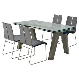 Valencia Gray/Black II 5-Piece Formal Dining Set