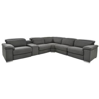 Karly Dark Gray Power Motion Sofa w/Right & Left Recliners