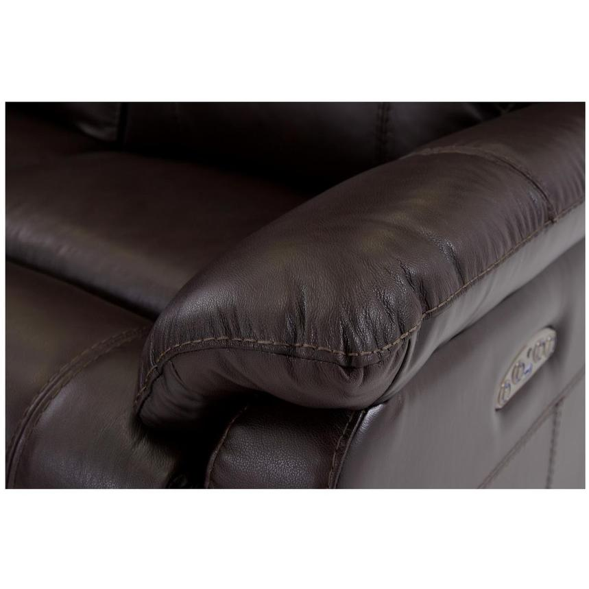 Ronald 2.0 Brown Leather Power Reclining Sectional  alternate image, 5 of 6 images.