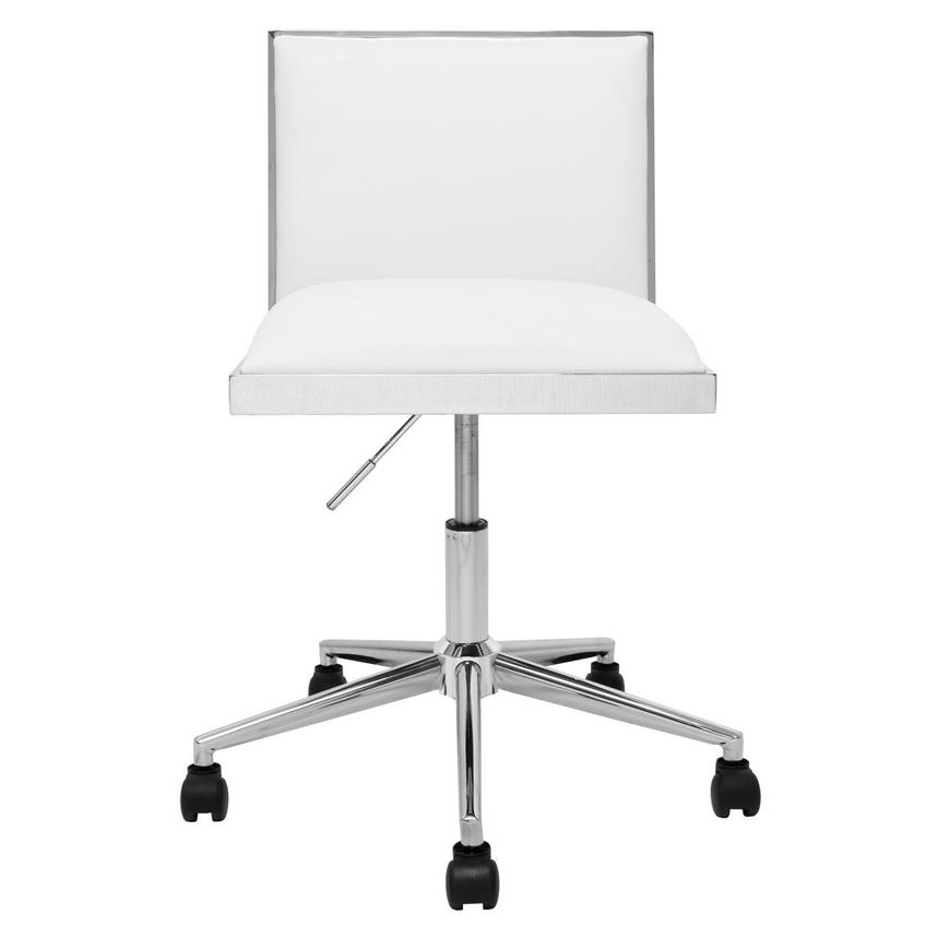 Emario White Desk Chair  main image, 1 of 7 images.