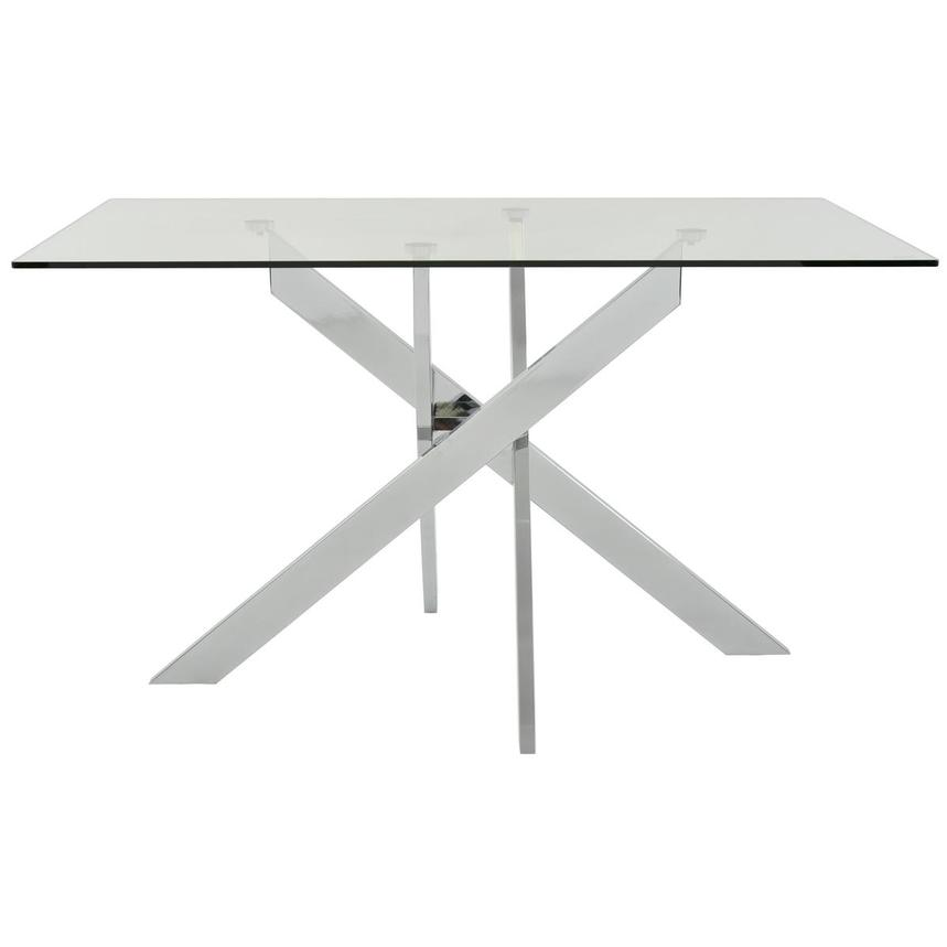 Linden Clear Rectangular Dining Table  main image, 1 of 7 images.