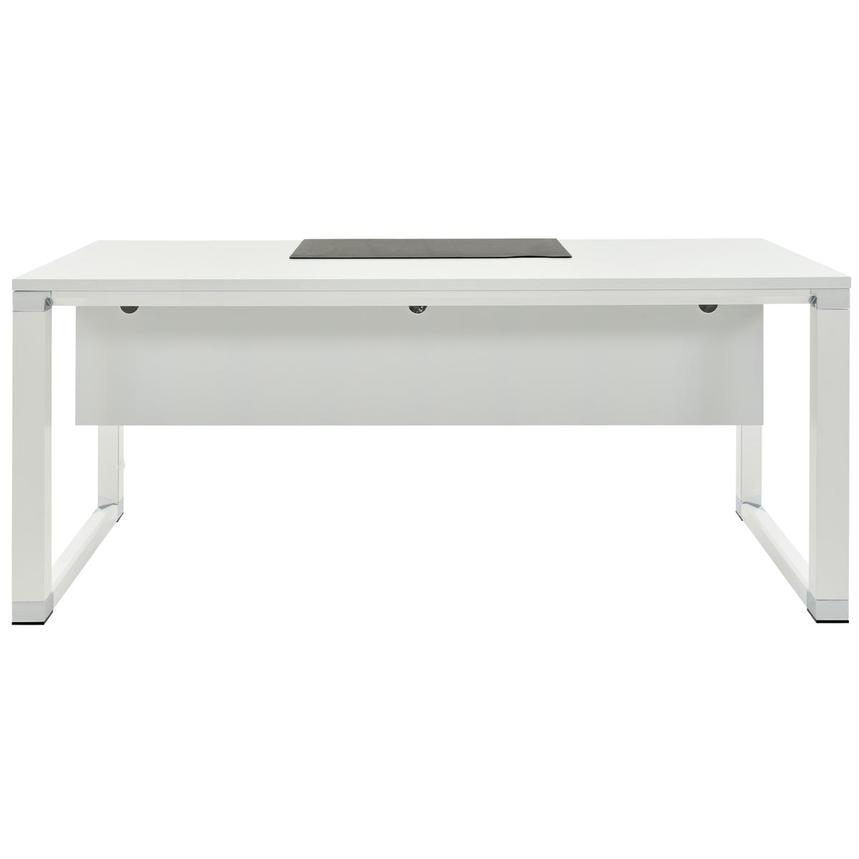 Ren Executive Desk w/Universal Outlets  main image, 1 of 10 images.