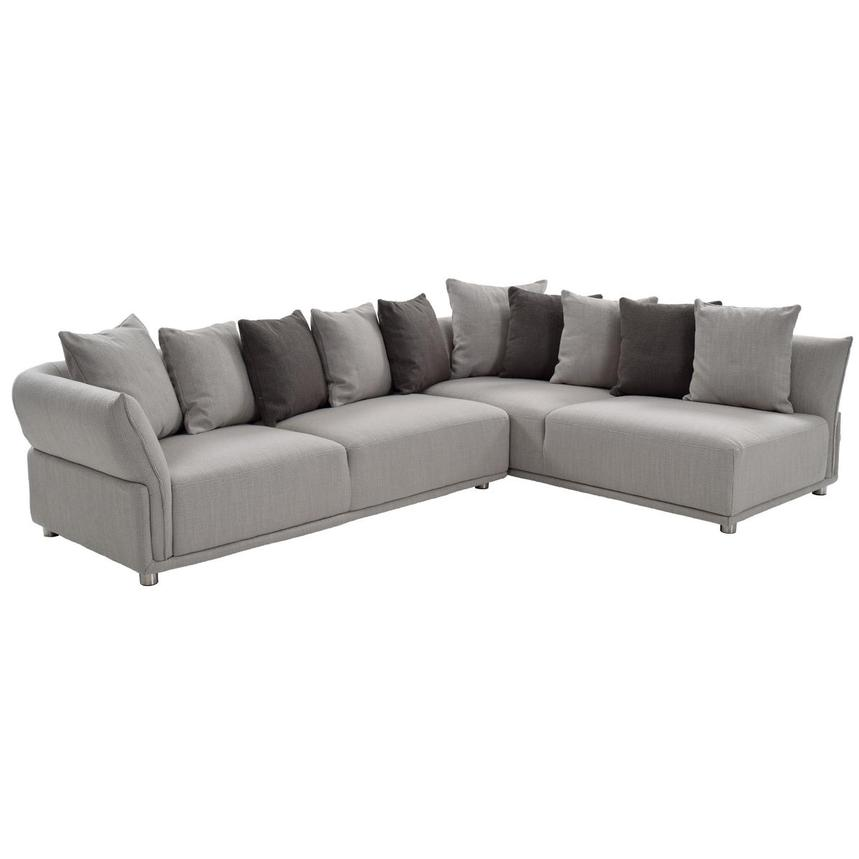 Alonzo Gray Sofa w/Right Chaise  main image, 1 of 5 images.