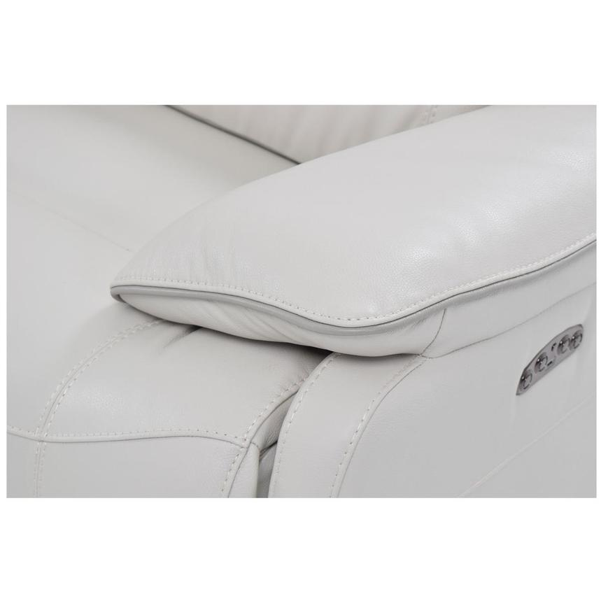 Austin White Leather Power Reclining Sectional  alternate image, 5 of 7 images.