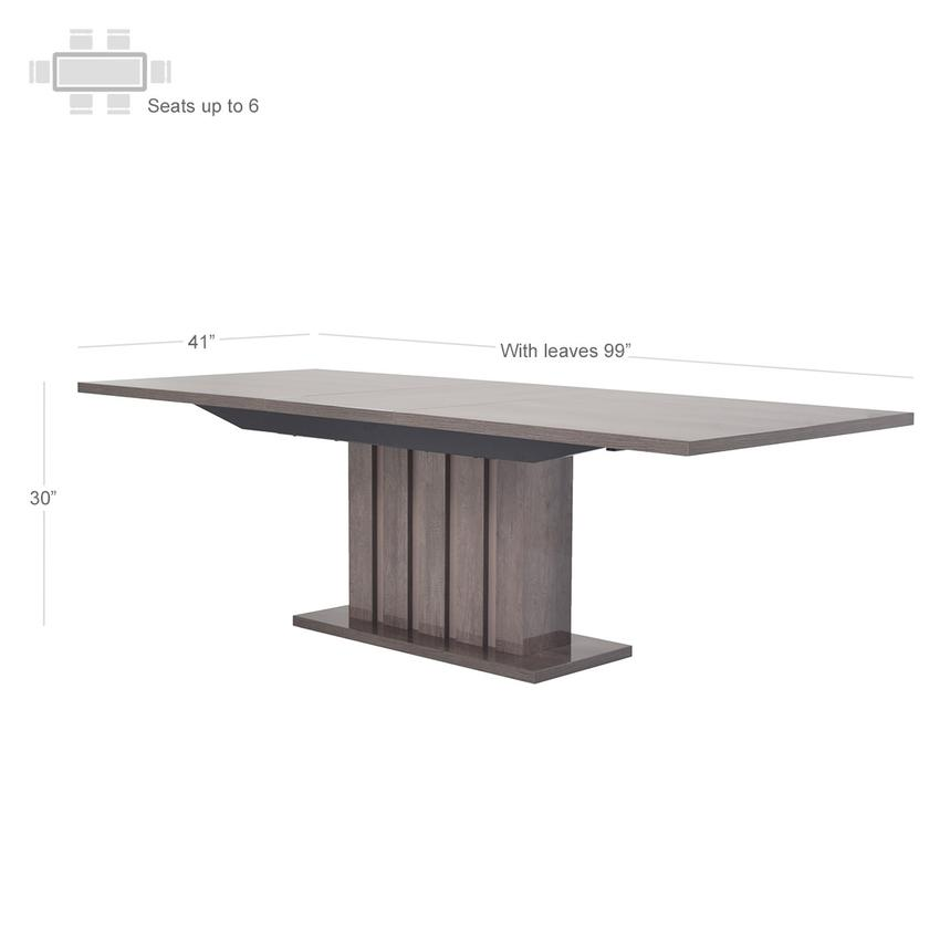 Matera Extendable Dining Table Made in Italy  alternate image, 5 of 9 images.