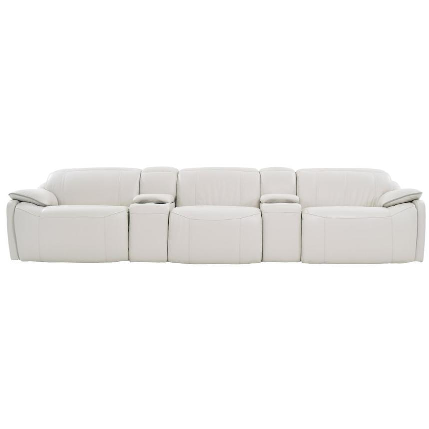 Austin White Home Theater Leather Seating