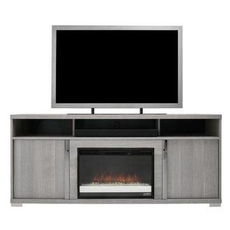Tivo Gray Faux Fireplace w/Speakers