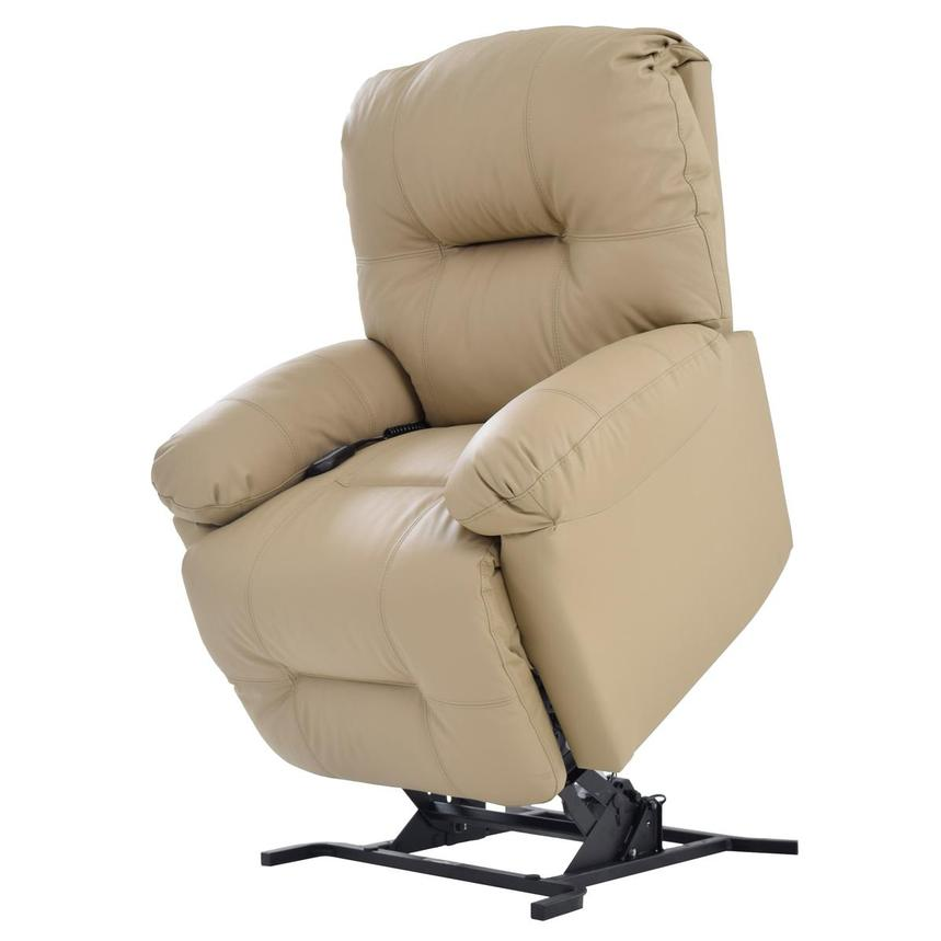 Wynette Cream Power-Lift Leather Recliner  main image, 1 of 7 images.