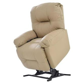 Wynette Cream Leather Power Lift Recliner