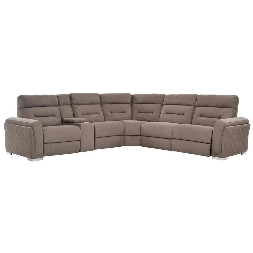 Kim Brown Power Motion Sofa w/Right & Left Recliners  main image, 1 of 7 images.
