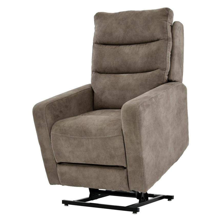Jimmy Light Brown Power-Lift Recliner  main image, 1 of 9 images.