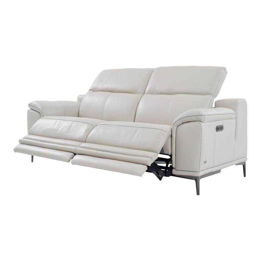 Katherine Gray Leather Power Reclining Loveseat  alternate image, 3 of 9 images.