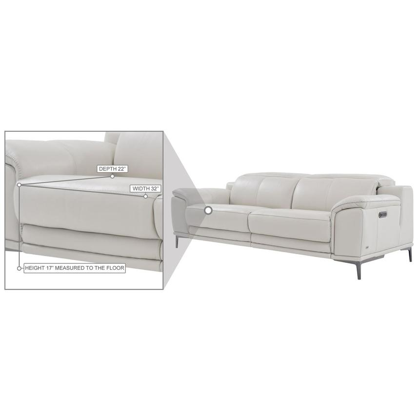 Katherine Gray Leather Power Reclining Loveseat  alternate image, 8 of 9 images.