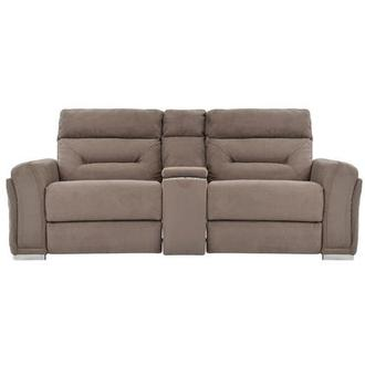 Kim Brown Power Reclining Sofa w/Console