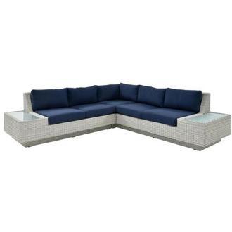 Ft Meyers Blue Sofa