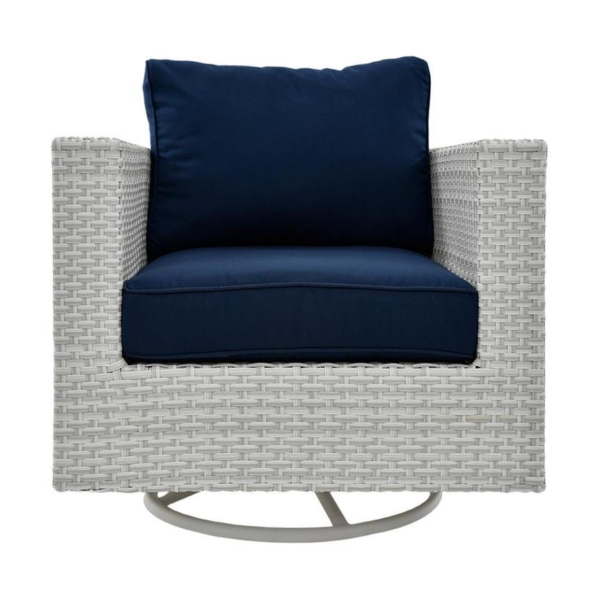 Ft Meyers Blue Swivel Chair El Dorado Furniture