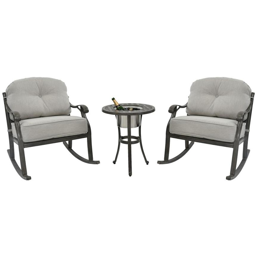 Castle Rock Gray 3-Piece Patio Set  main image, 1 of 9 images.