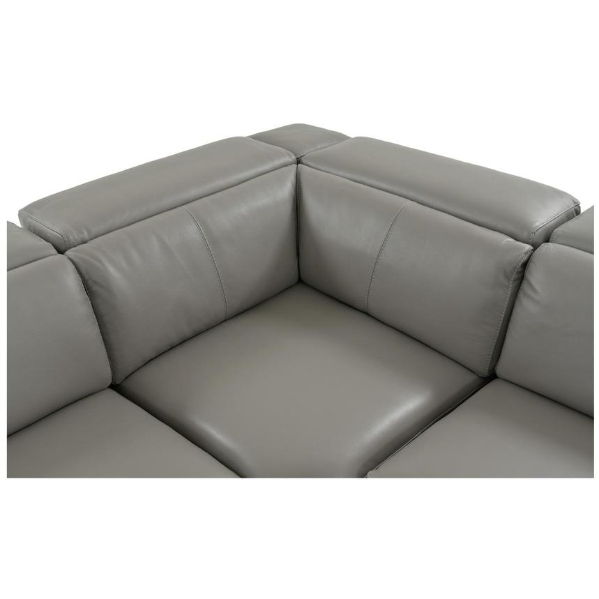 Charlie Gray Power Motion Leather Sofa w/Right & Left Recliners  alternate image, 5 of 9 images.