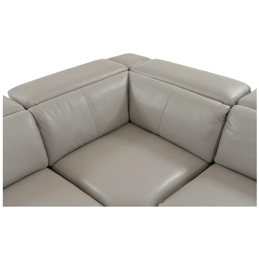 Charlie Light Gray Power Motion Leather Sofa w/Right & Left Recliners  alternate image, 6 of 10 images.