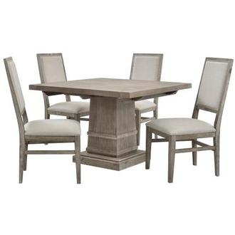 Hudson Gray/Dexter Gray 5-Piece Dining Set