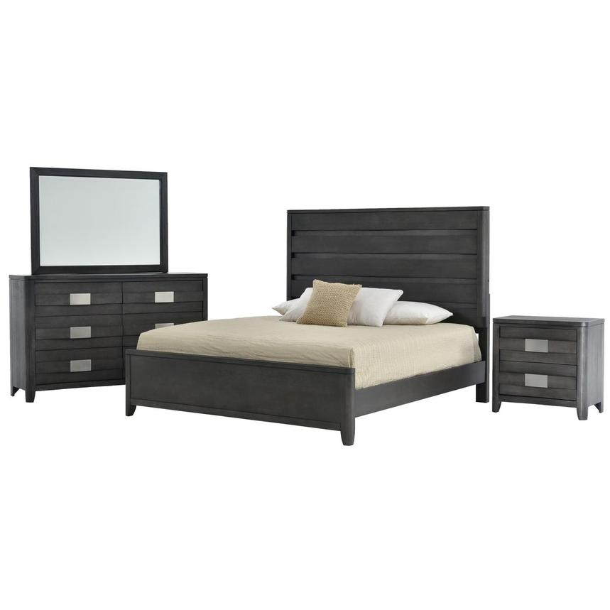 Contour Gray 4-Piece Queen Bedroom Set  main image, 1 of 5 images.